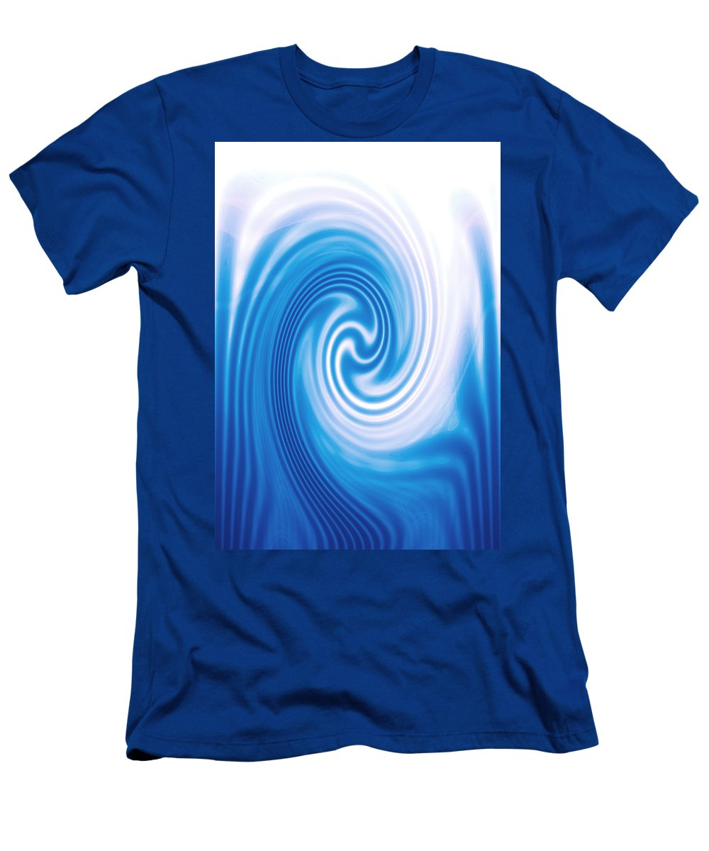 Moveonart! Global Gathering. -- Digital Abstract Art By Jacob Kane -- Omnetra Men's T-Shirt (Athletic Fit) featuring the digital art Moveonart Spiritwaterwavelight by Jacob Kanduch