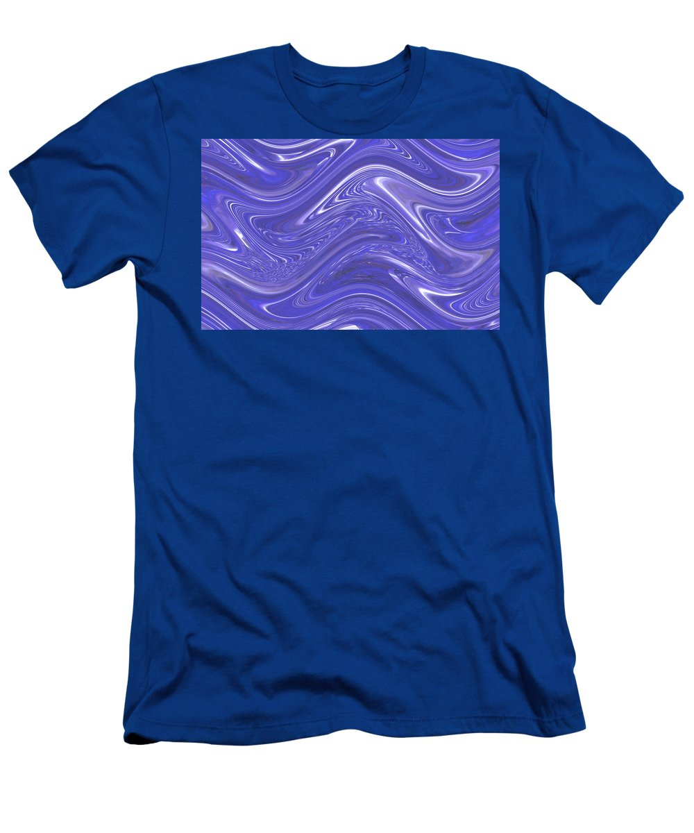 Moveonart! Digital Gallery T-Shirt featuring the digital art MoveOnArt Waves Of Blue For You 1 by Jacob Kanduch
