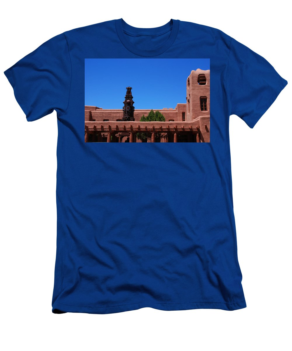 Museum Men's T-Shirt (Athletic Fit) featuring the photograph Museum Of Indian Arts And Culture Santa Fe by Susanne Van Hulst