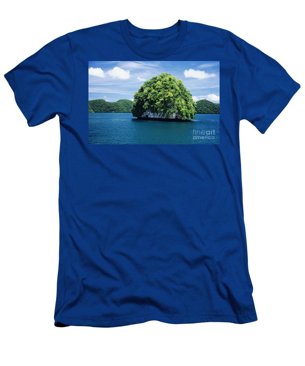 Beautiful Men's T-Shirt (Athletic Fit) featuring the photograph Mushroom-shaped Island by Dave Fleetham - Printscapes
