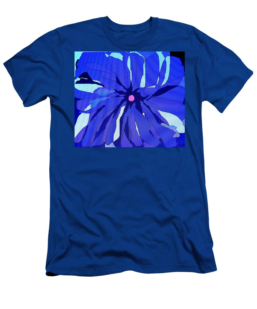 Flower Men's T-Shirt (Athletic Fit) featuring the digital art My Fantastic Flower by Ian MacDonald