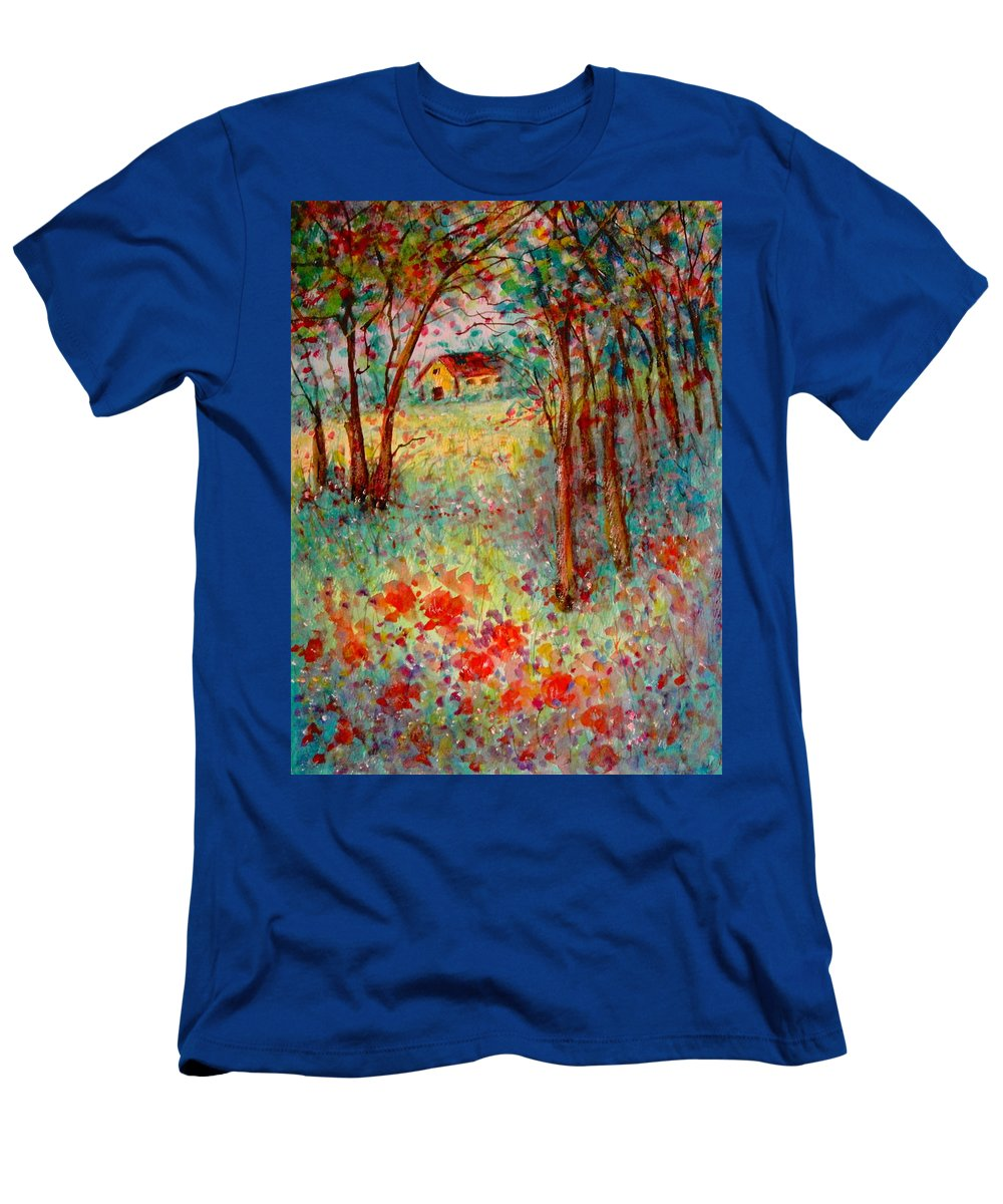 Nature T-Shirt featuring the painting My Heavenly Hideout by Natalie Holland