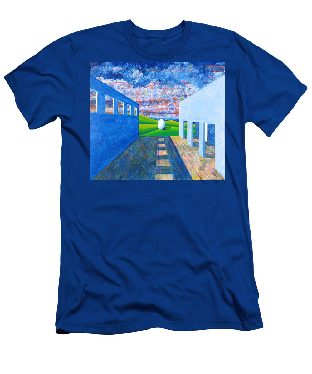 Surrealism T-Shirt featuring the painting Mystery And Memory by Rollin Kocsis