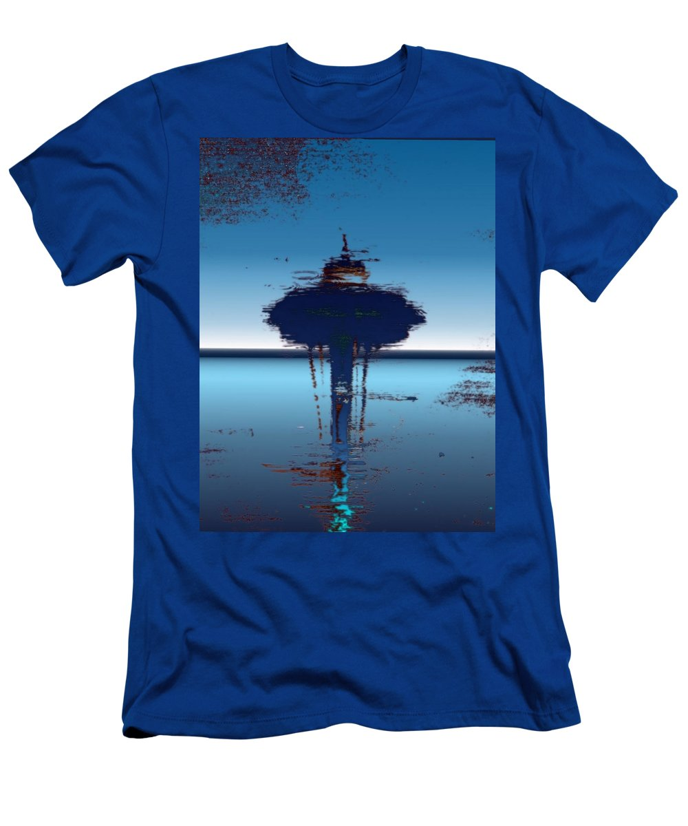 Seattle Men's T-Shirt (Athletic Fit) featuring the digital art Needle In A Raindrop Stack 4 by Tim Allen