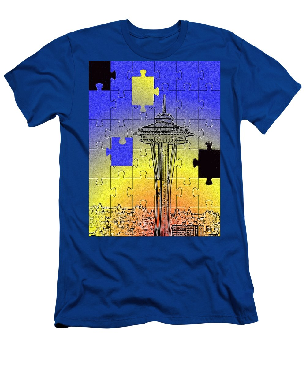 Seattle Men's T-Shirt (Athletic Fit) featuring the photograph Needle Jigsaw by Tim Allen