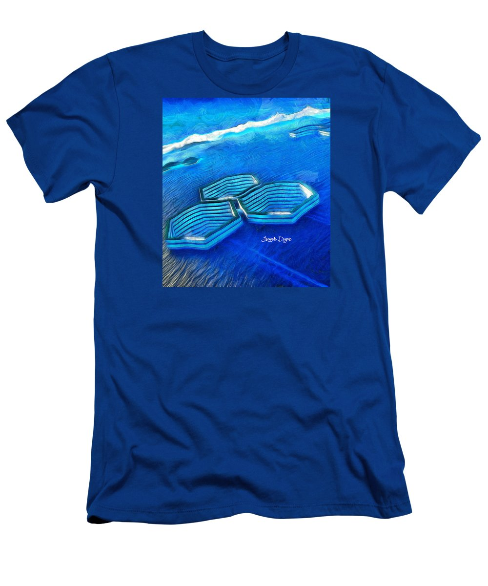 Amalgamating Men's T-Shirt (Athletic Fit) featuring the painting New Islands by Leonardo Digenio