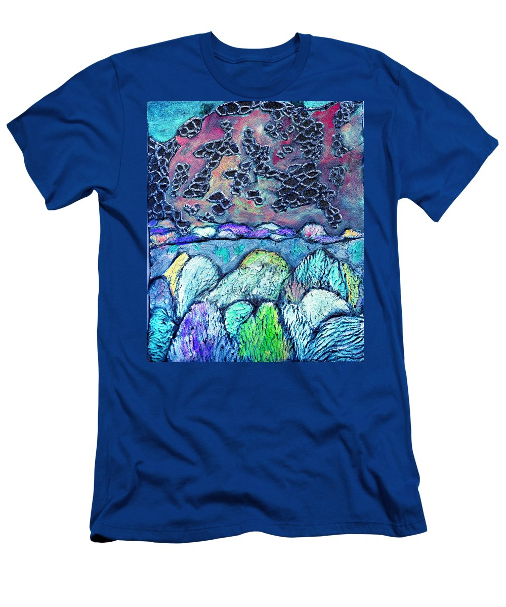 Landscape Men's T-Shirt (Athletic Fit) featuring the painting New Mexico Landscape by Wayne Potrafka