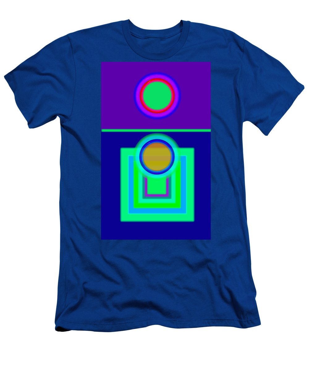 Classical Men's T-Shirt (Athletic Fit) featuring the digital art Night Game by Charles Stuart