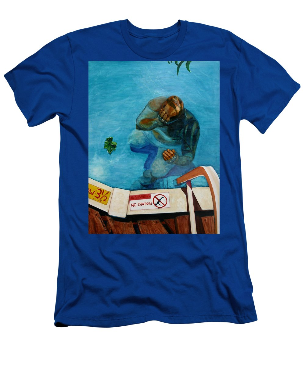 Painting Men's T-Shirt (Athletic Fit) featuring the painting No Diving by Gideon Cohn