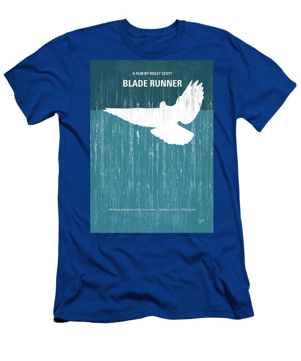 Blade T-Shirt featuring the digital art No011 My Blade Runner minimal movie poster by Chungkong Art
