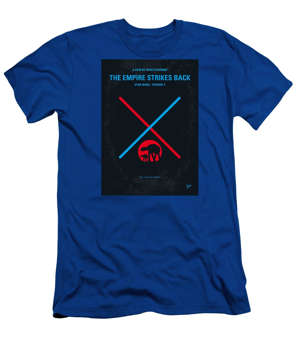 Star T-Shirt featuring the digital art No155 My STAR WARS Episode V The Empire Strikes Back minimal movie poster by Chungkong Art