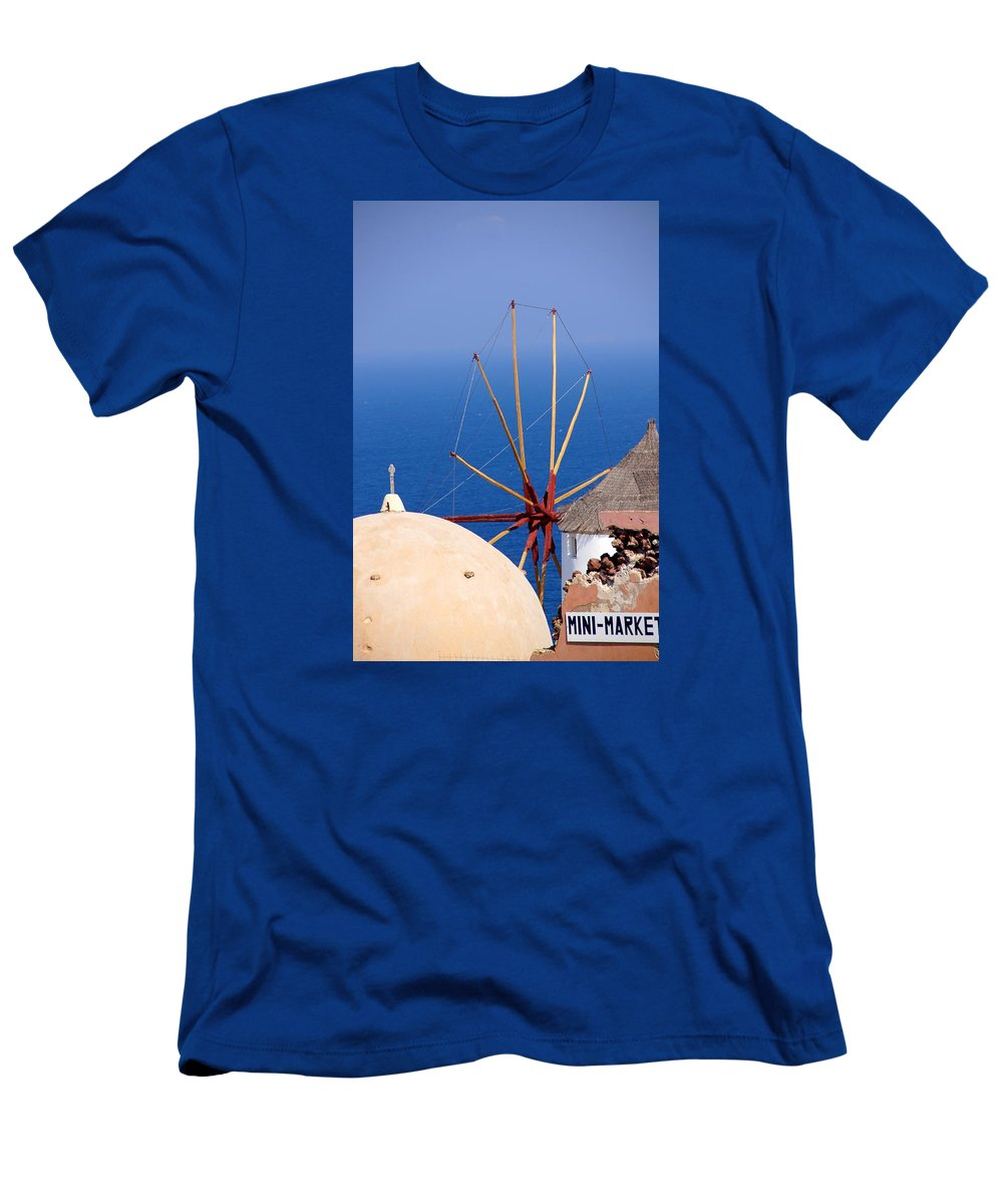 Windmill Men's T-Shirt (Athletic Fit) featuring the photograph Old And New by Ron Koivisto