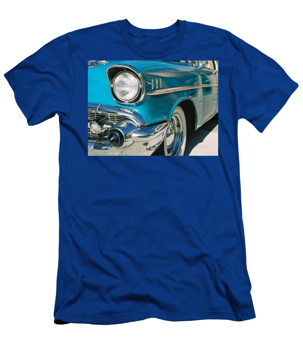 Chevy Men's T-Shirt (Athletic Fit) featuring the photograph Old Chevy by Steve Karol