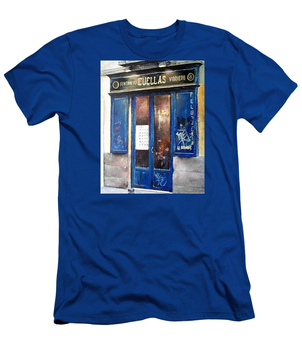 Old Men's T-Shirt (Athletic Fit) featuring the painting Old Plumbing-madrid by Tomas Castano