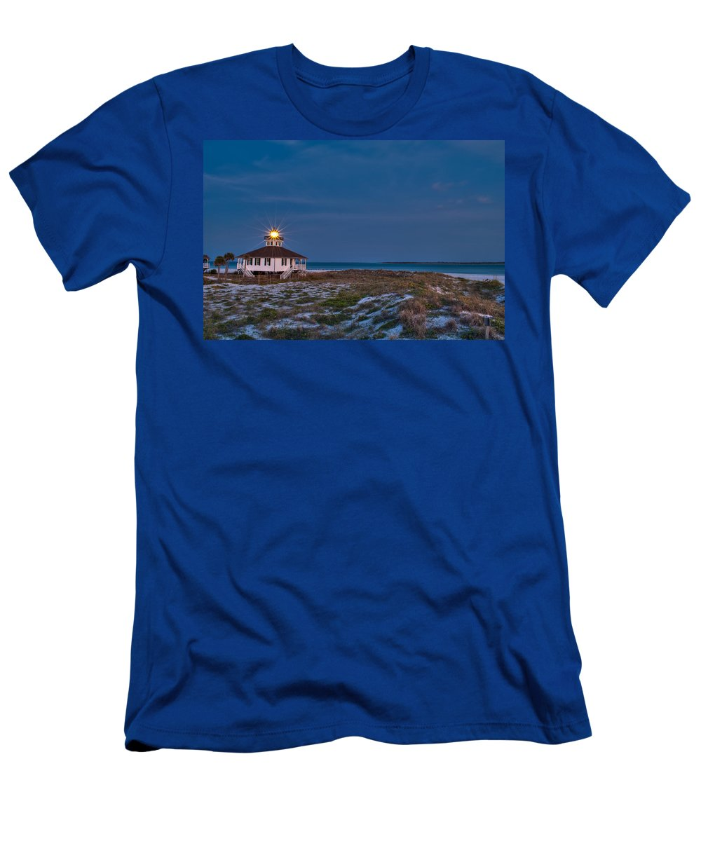 Lighthouse Men's T-Shirt (Athletic Fit) featuring the photograph Old Port Boca Grande Lighthouse by Rich Leighton