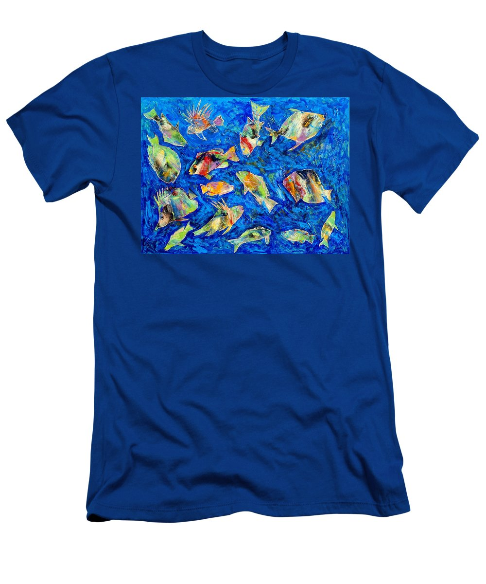 Fish Men's T-Shirt (Athletic Fit) featuring the painting Old School by Dominic Piperata