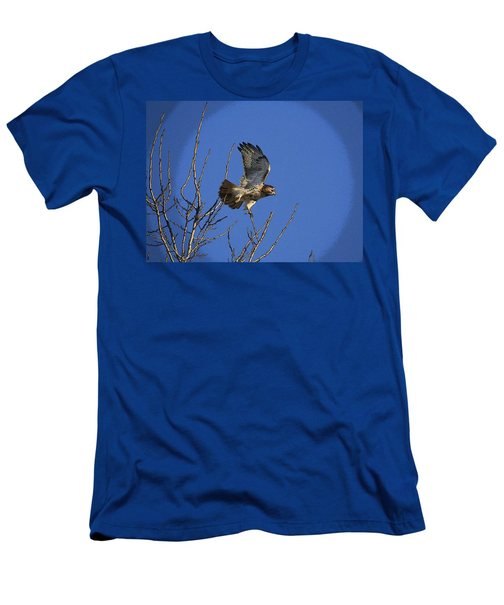 Hawk Men's T-Shirt (Athletic Fit) featuring the photograph On The Move by Robert Pearson