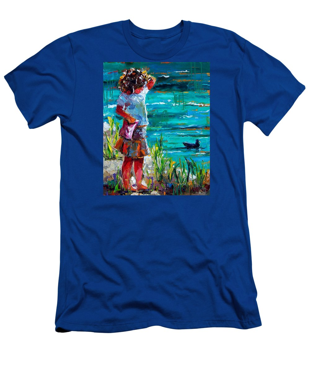 Children T-Shirt featuring the painting One Lucky Duck by Debra Hurd