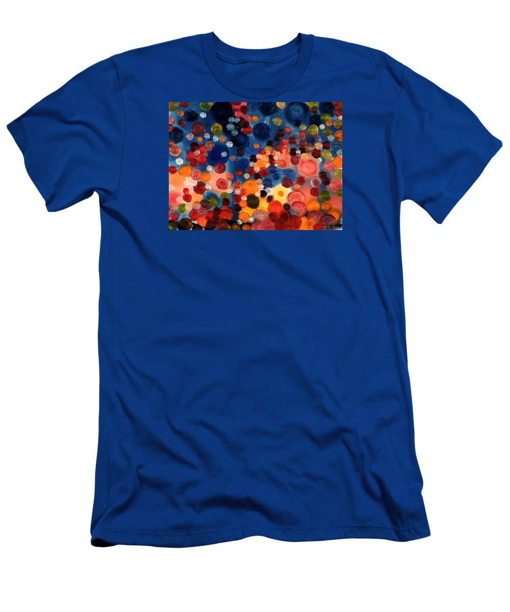 Abstract Men's T-Shirt (Athletic Fit) featuring the painting One Moment One Sun by William Van Doren