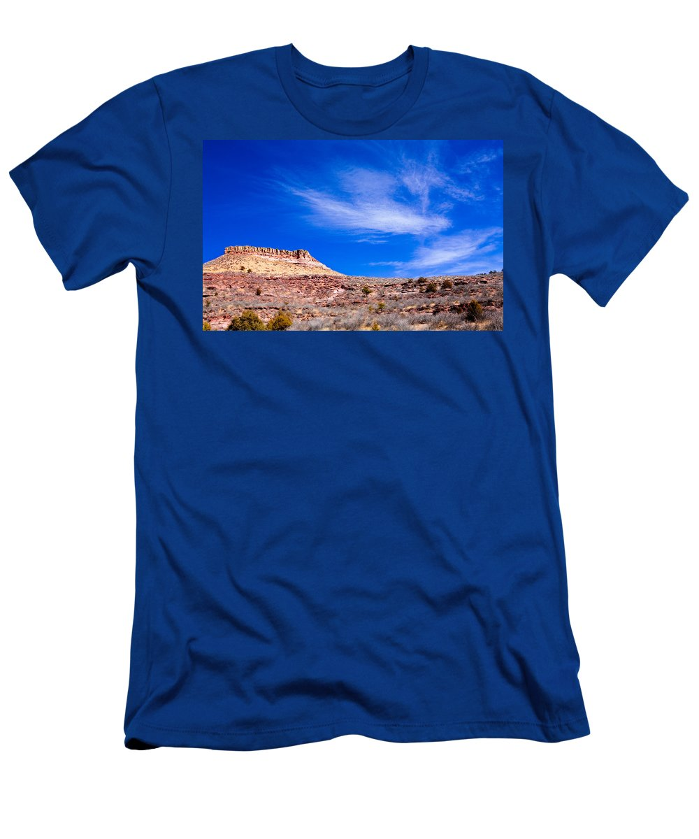 Red Men's T-Shirt (Athletic Fit) featuring the photograph Outside Lyons Colorado by Marilyn Hunt