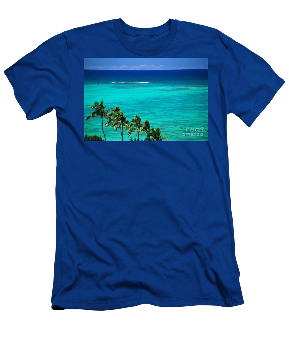 Afternoon Men's T-Shirt (Athletic Fit) featuring the photograph Palms And Ocean by Dana Edmunds - Printscapes
