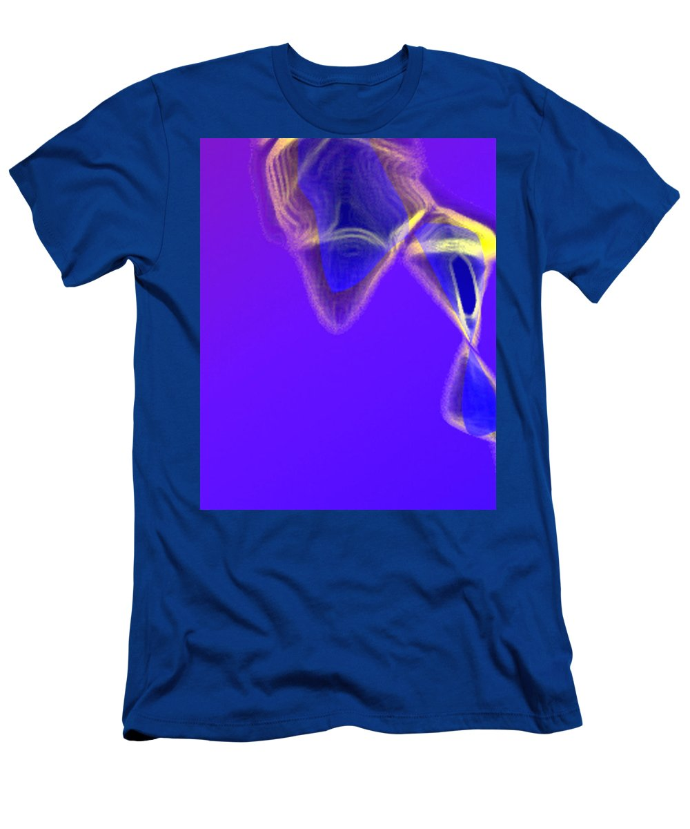 Abstract Men's T-Shirt (Athletic Fit) featuring the digital art Panel One From Movement In Blue by Steve Karol