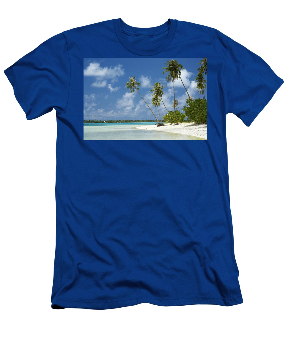 Beach Men's T-Shirt (Athletic Fit) featuring the photograph Paradise - Maupiti Lagoon by Kyle Rothenborg - Printscapes