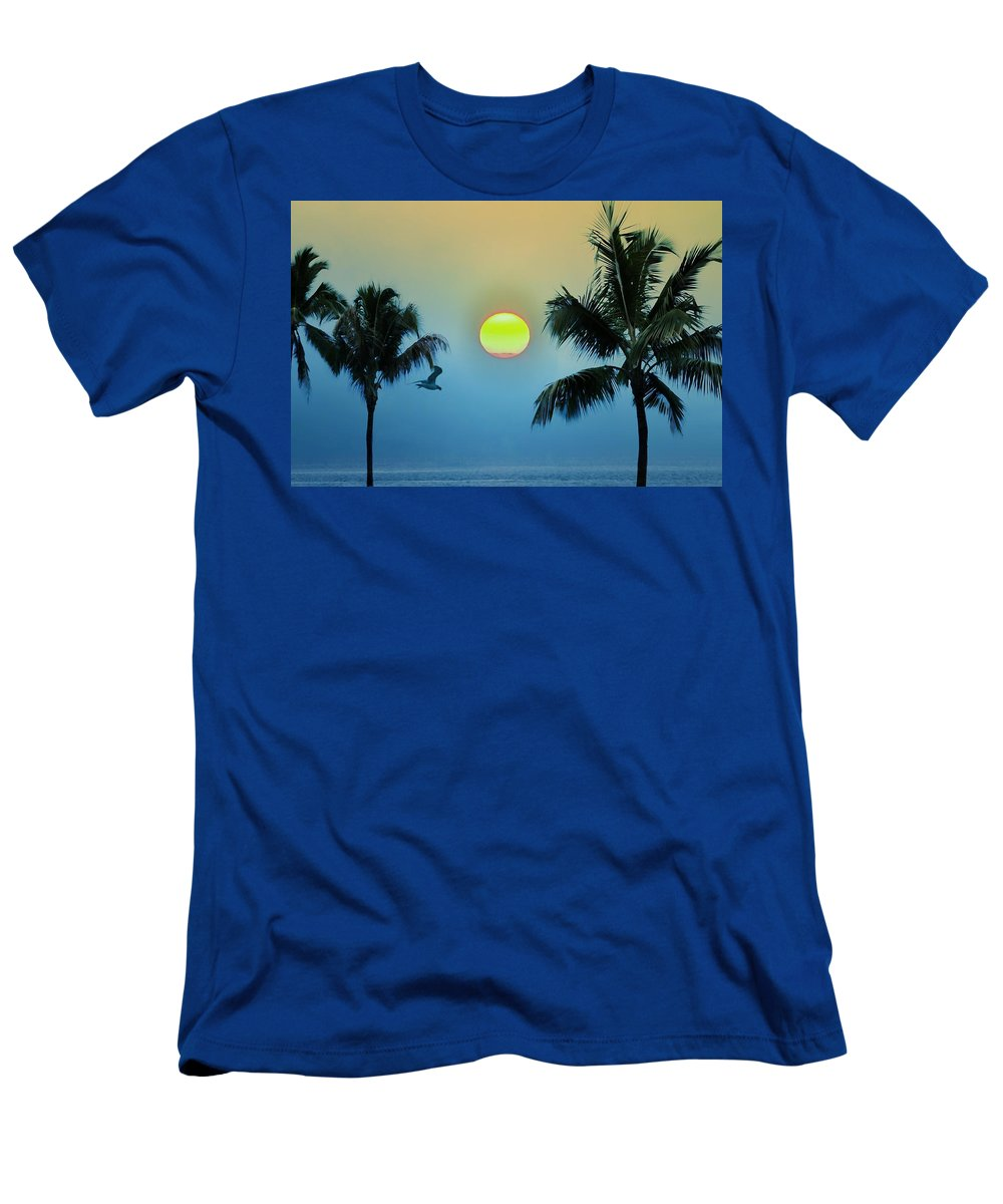 Island Men's T-Shirt (Athletic Fit) featuring the photograph Paradise by Bill Cannon