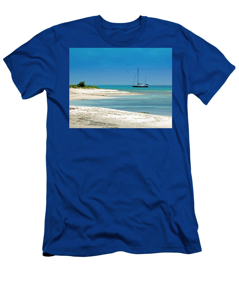 Boat Men's T-Shirt (Athletic Fit) featuring the photograph Paradise Found by Debbi Granruth