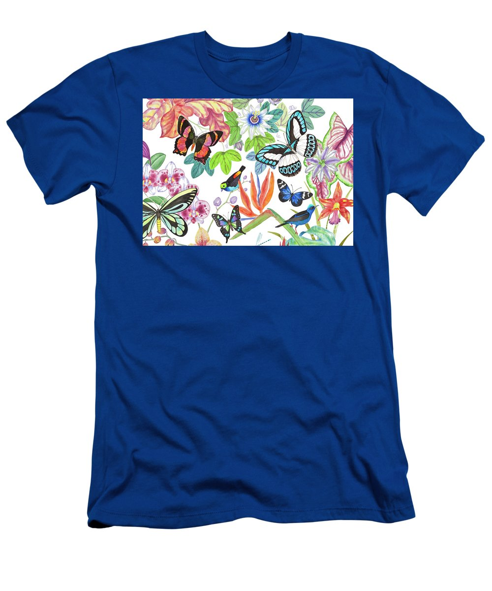 Tropical Birds T-Shirt featuring the painting Paradise Tanager by Lucy Arnold