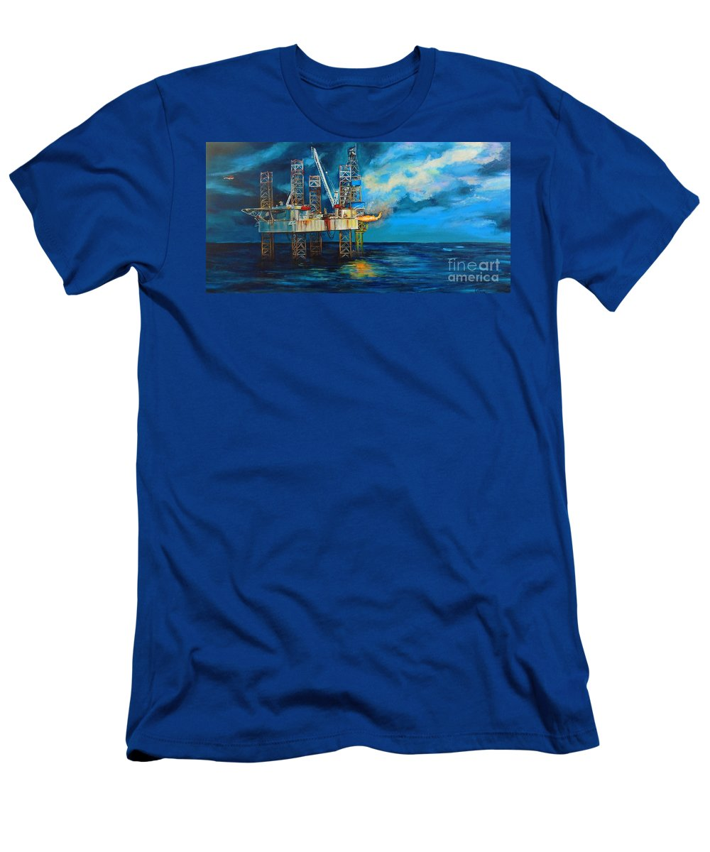 Paragon Hz1 Men's T-Shirt (Athletic Fit) featuring the painting Paragon Hz1 by Cami Lee
