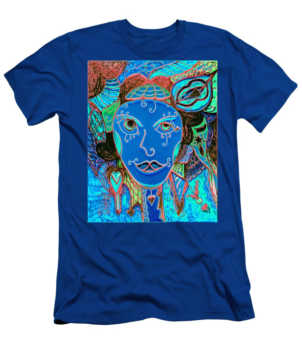 Party Girl Men's T-Shirt (Athletic Fit) featuring the painting Party Girl by Natalie Holland