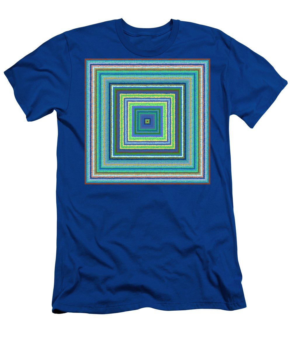 Pattern 122 Men's T-Shirt (Athletic Fit) featuring the digital art Pattern 122 by Marko Sabotin
