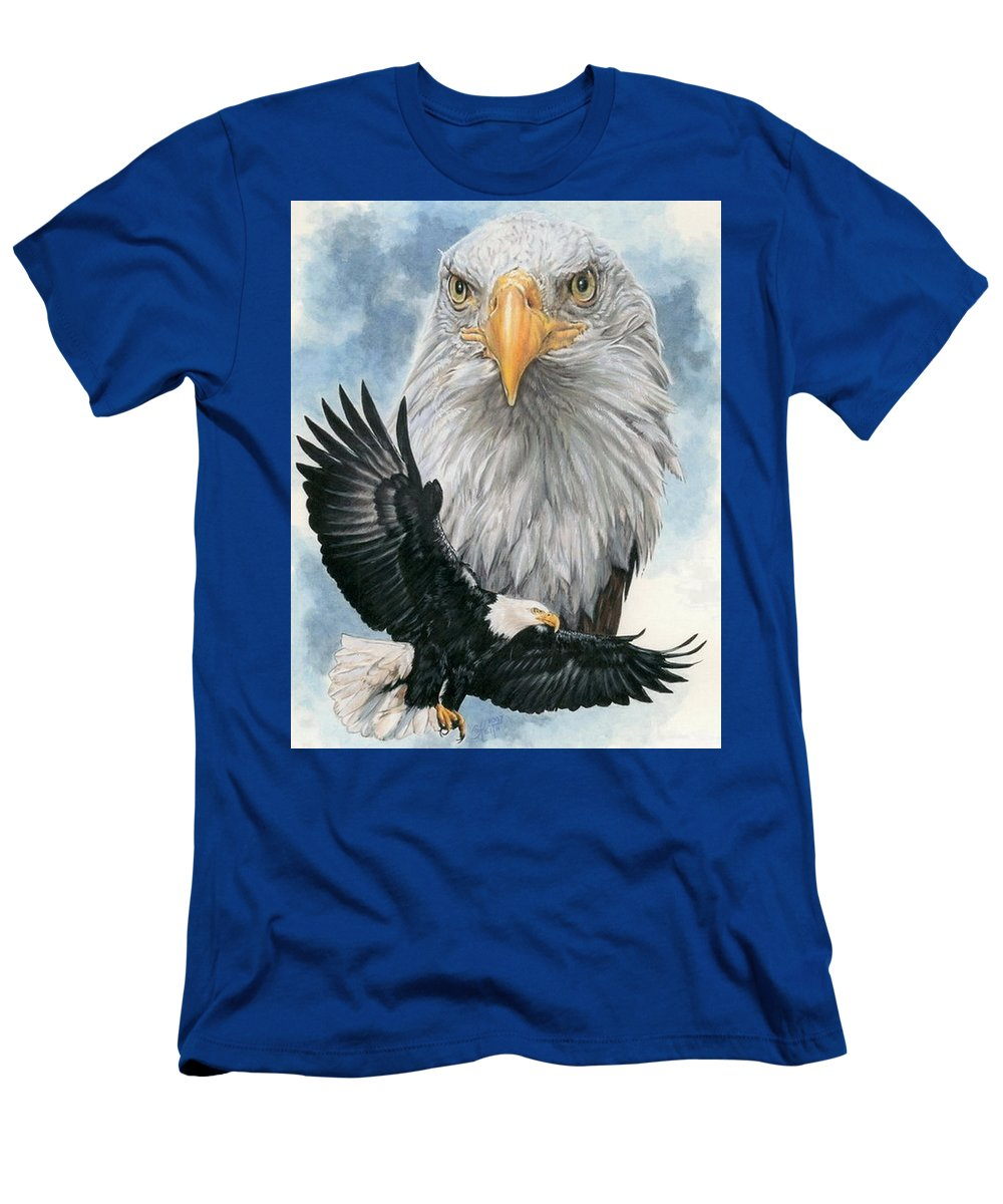 Bald Eagle T-Shirt featuring the mixed media Peerless by Barbara Keith