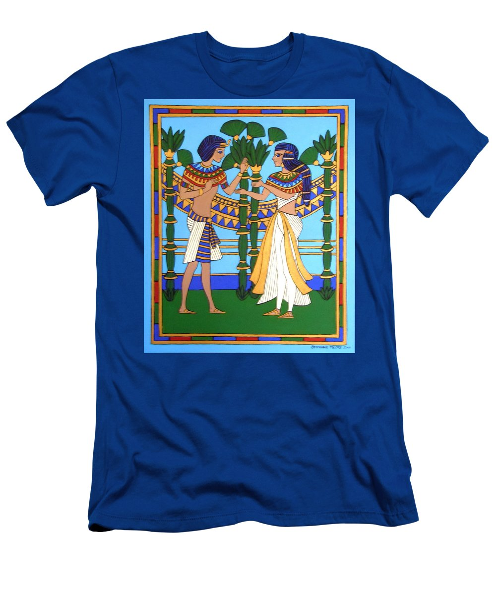 Pharaoh Men's T-Shirt (Athletic Fit) featuring the painting Pharaoh by Stephanie Moore