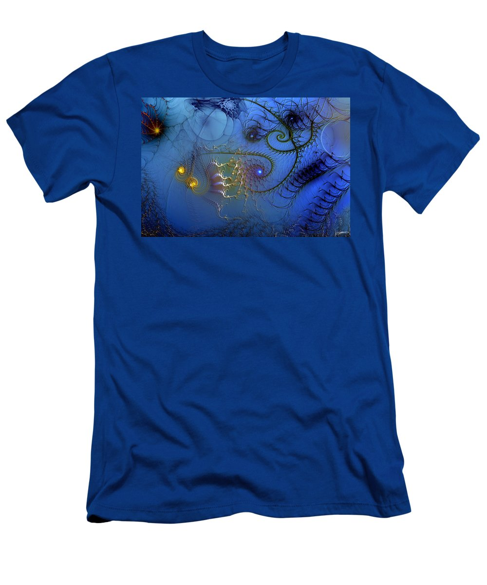 Abstract Men's T-Shirt (Athletic Fit) featuring the digital art Philosophical Ventriloquism by Casey Kotas