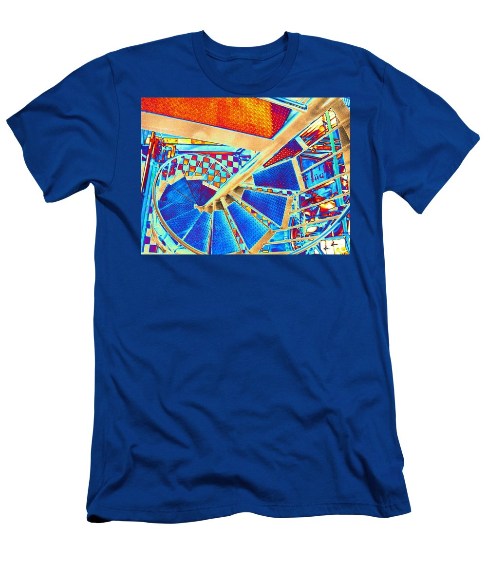 Seattle Men's T-Shirt (Athletic Fit) featuring the digital art Pike Brewpub Stair by Tim Allen