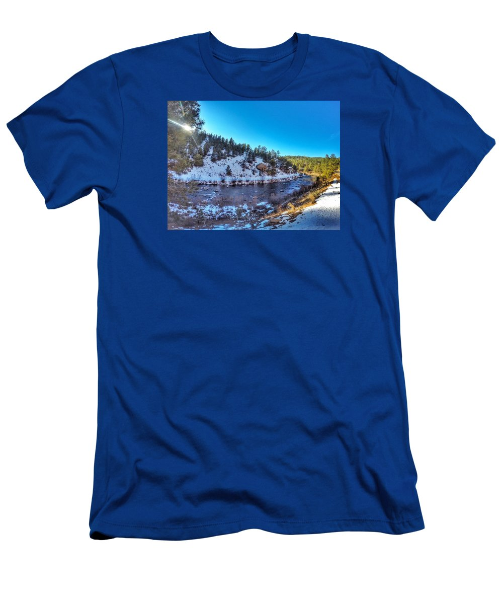 Landscape Men's T-Shirt (Athletic Fit) featuring the photograph Pine, Co by Kelly Clemente
