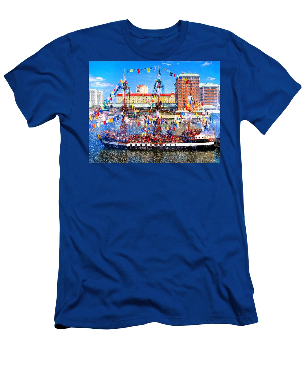 Art Men's T-Shirt (Athletic Fit) featuring the painting Pirate Colors by David Lee Thompson