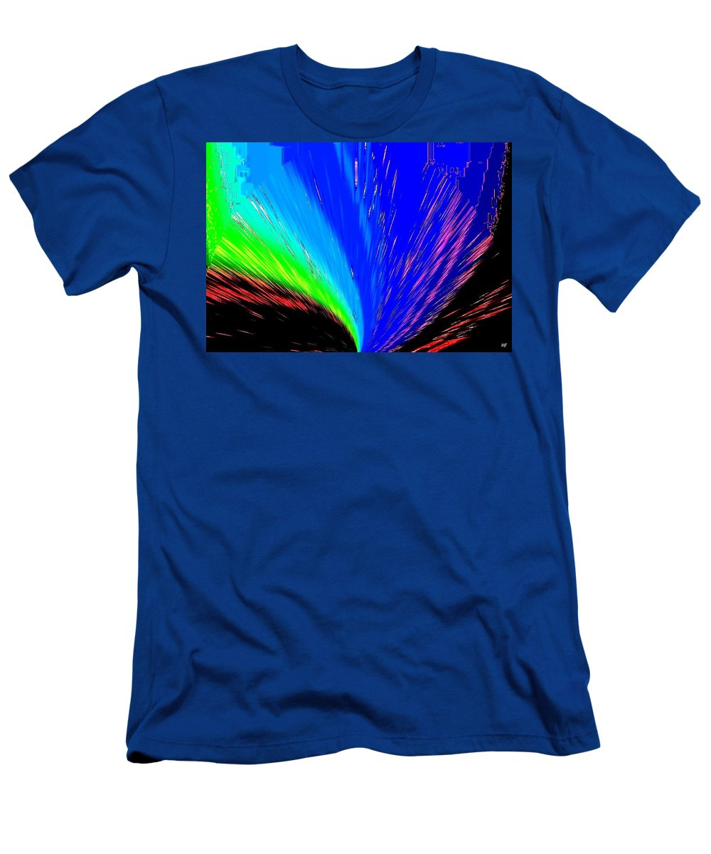 Abstract Men's T-Shirt (Athletic Fit) featuring the digital art Pizzazz 3 by Will Borden