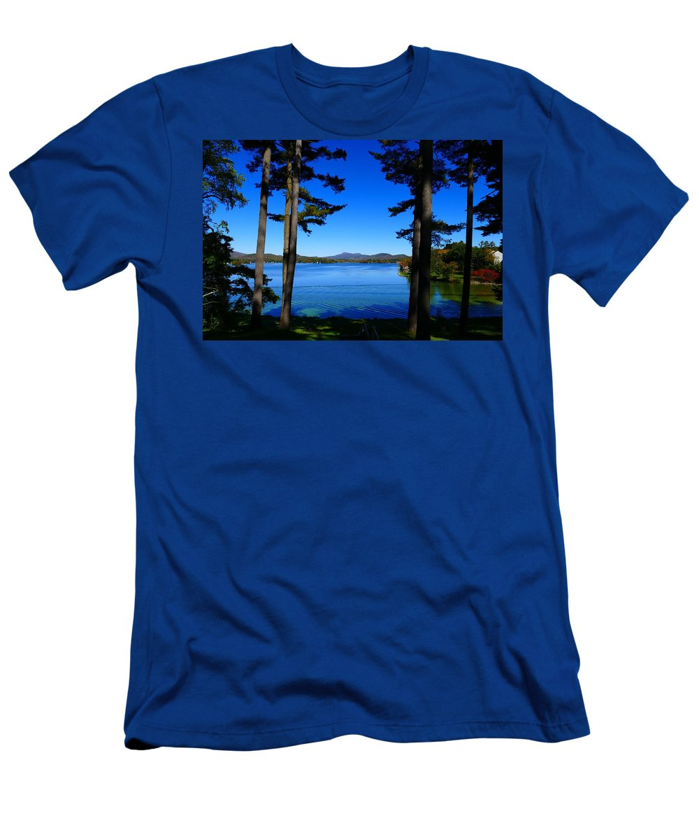 Fall Men's T-Shirt (Athletic Fit) featuring the photograph Pontoosuc Folaige 2 by Debbie Storie