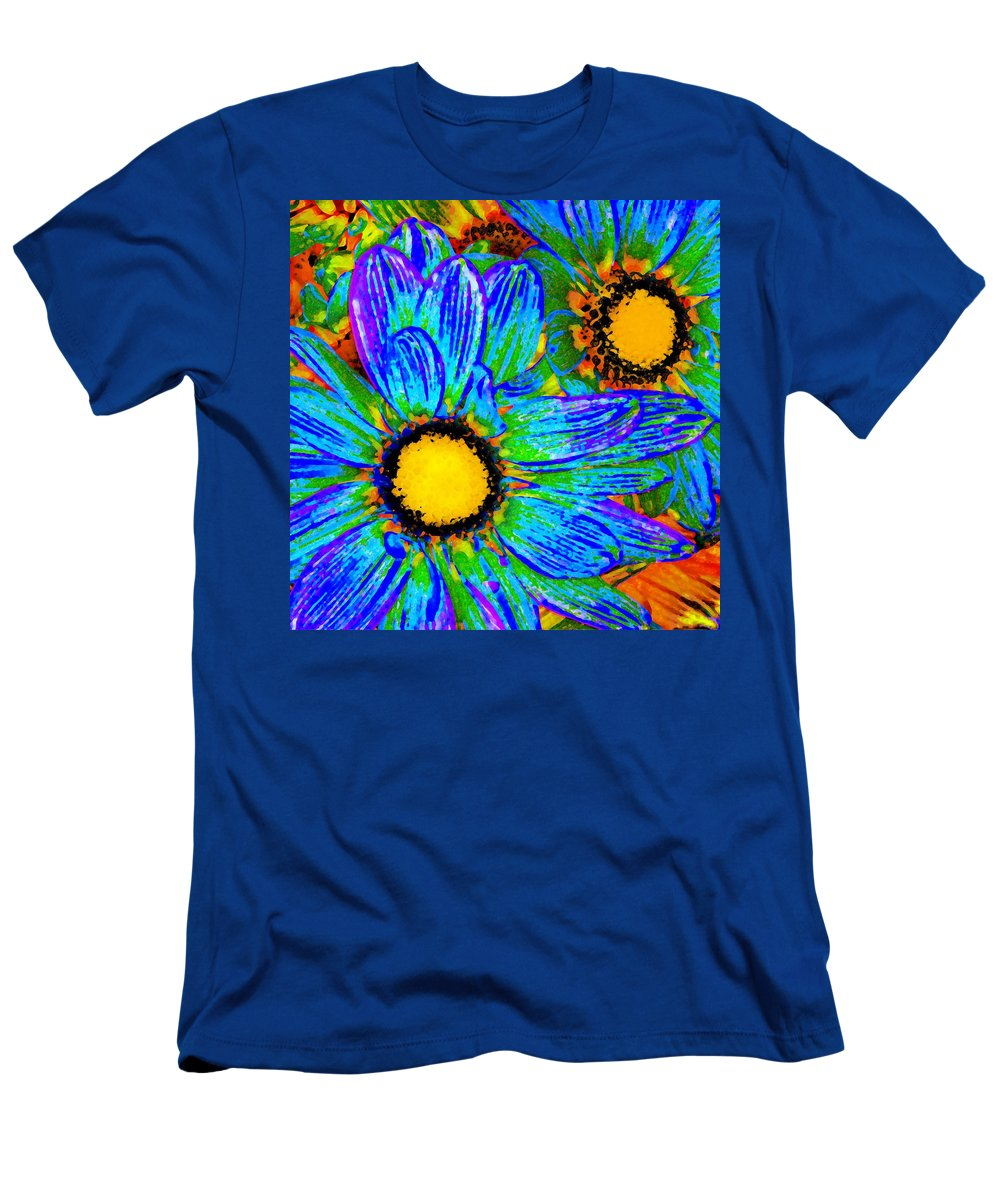 Pop Daisy Men's T-Shirt (Athletic Fit) featuring the painting Pop Art Daisies 4 by Amy Vangsgard