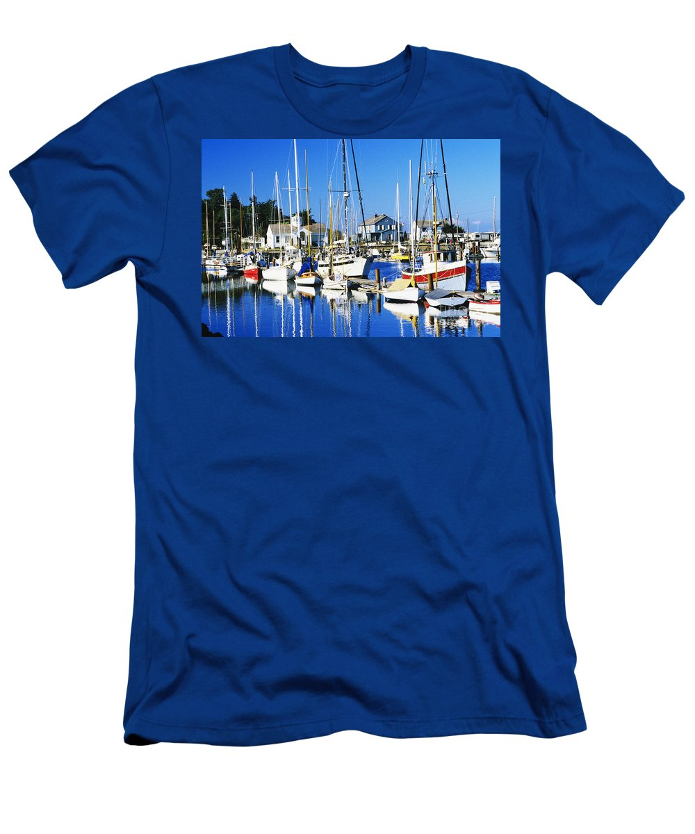 Anchor Men's T-Shirt (Athletic Fit) featuring the photograph Port Townsend Harbor by Peter French - Printscapes