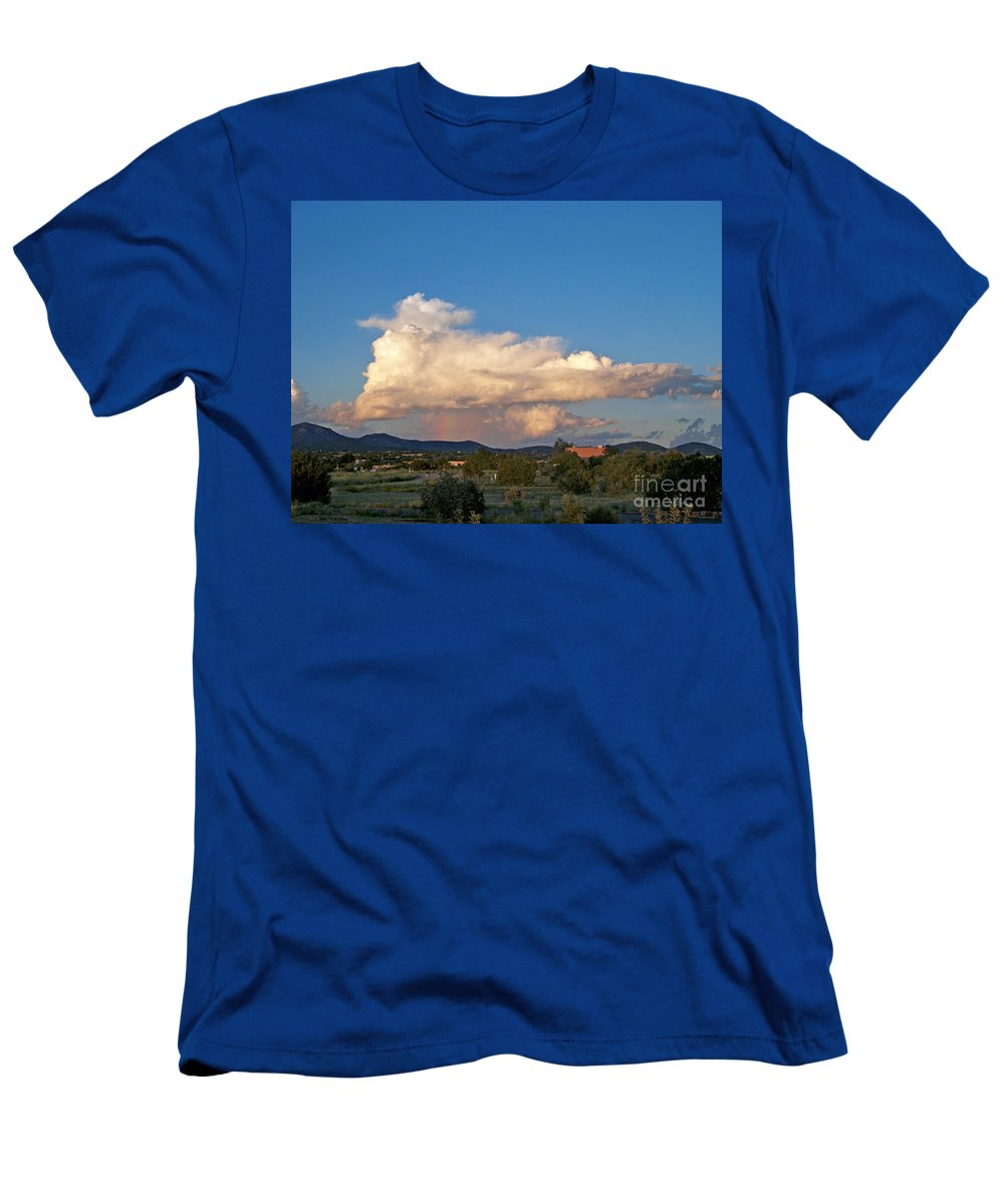 Men's T-Shirt (Athletic Fit) featuring the photograph Portable Rainbow by Brian Commerford