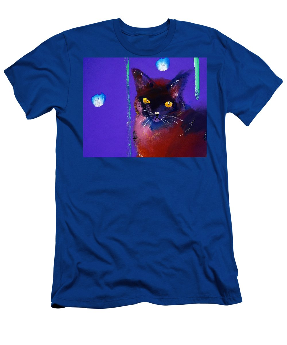 Cat T-Shirt featuring the painting Posh Tom Cat by Charles Stuart
