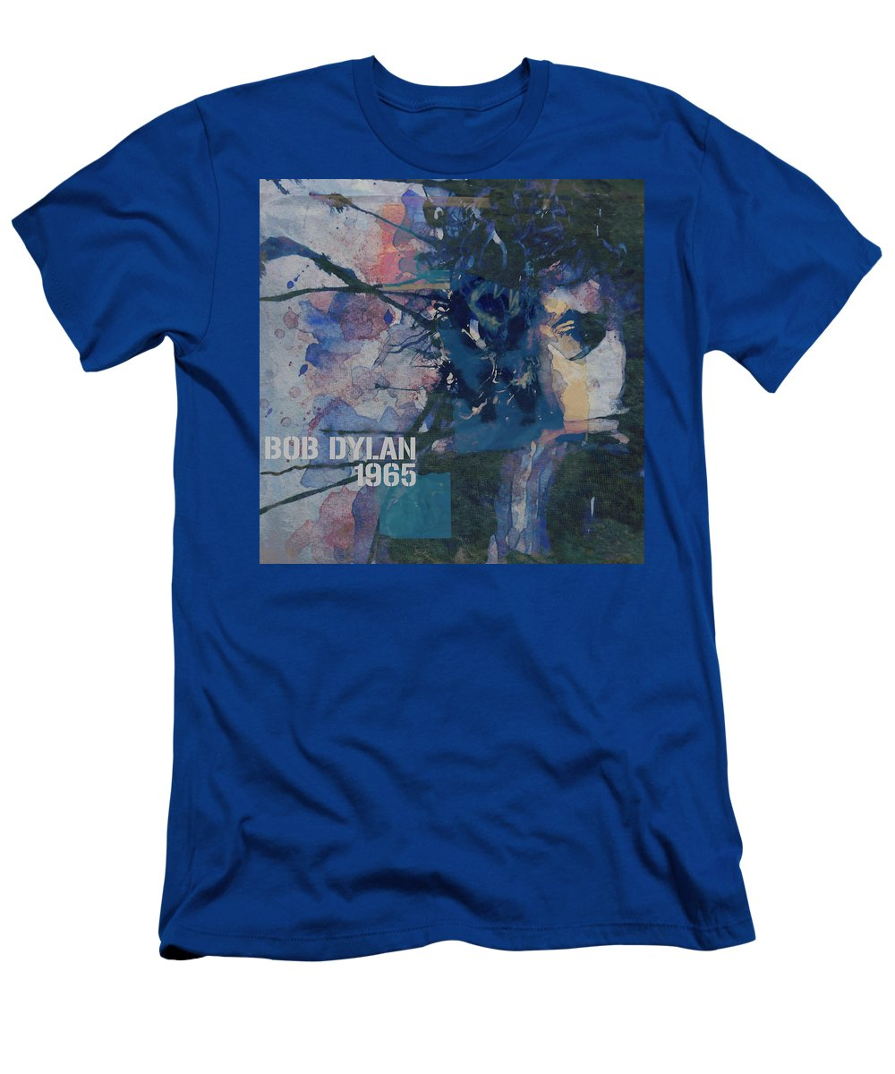 Bob Dylan T-Shirt featuring the painting Positively 4th Street by Paul Lovering