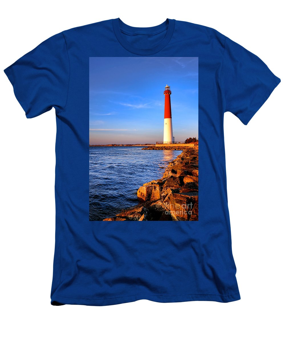 New Men's T-Shirt (Athletic Fit) featuring the photograph Postcard From Barnegat by Olivier Le Queinec