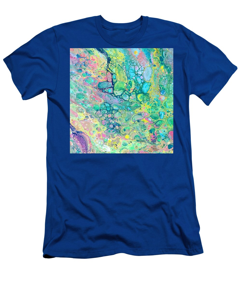 Energetic Colorful Full Of Movement T-Shirt featuring the painting Pour 13 by Valerie Josi