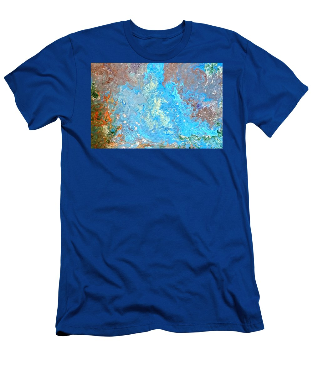 Acrylic Pour T-Shirt featuring the painting Siskiyou Creek by Valerie Josi