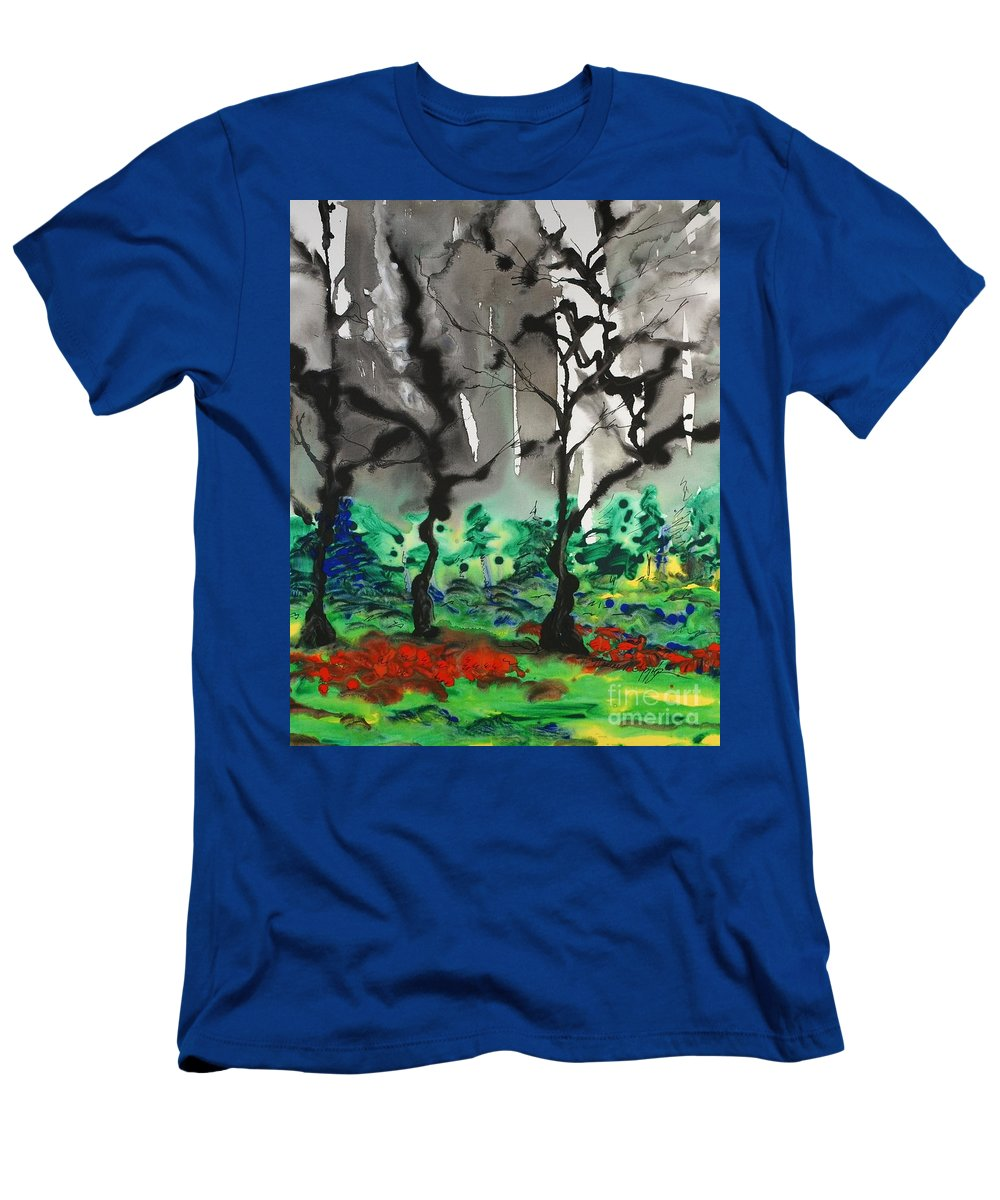 Forest T-Shirt featuring the painting Primary Forest by Nadine Rippelmeyer